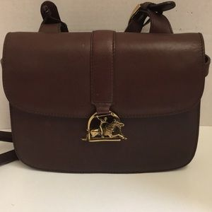 Ralph Lauren brown leather polo saddlebag